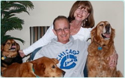 Jeffrey Guenther with is wife and three dogs