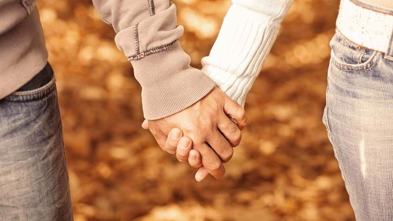 Picture of a couple holding hands