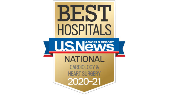 USNWR Badge NMH Best Hospitals Cardiology 2020-2021