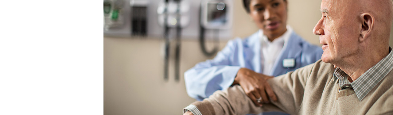 Rheumatologist checks a patient's arm