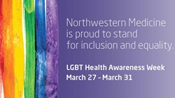 LGBT Health Awareness Week graphic - inclusion and equality