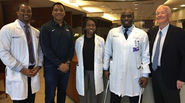 Northwestern Medicine physicians joined with the Living Heart Foundation to screen former NFL players for heart disease.