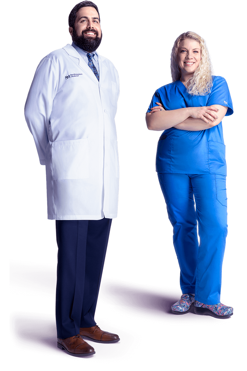 a male doctor and a female nurse