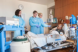 Northwestern Medicine doctors with patient at bedside