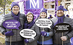 Northwestern Medicine 2017 Magnificent Mile Transplant Float with the Dickinson and Lee Families